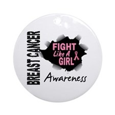 Licensed Fight Like a Girl 14.3 Ornament (Round)