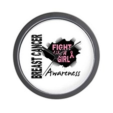 Licensed Fight Like a Girl 14.3 Wall Clock