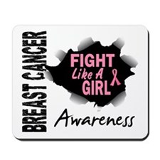 Licensed Fight Like a Girl 14.3 Mousepad