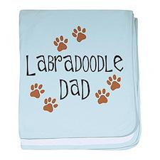 Labradoodle Dad baby blanket