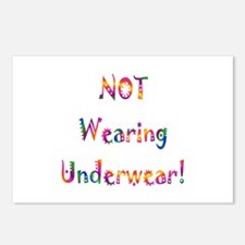 Not Wearing Underwear Gift Postcards (Package of 8