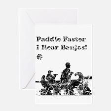 Vintage Paddle Faster Greeting Card
