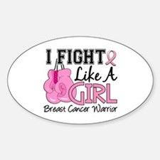 Licensed Fight Like a Girl 15.2 Sticker (Oval)