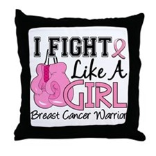 Licensed Fight Like a Girl 15.2 Throw Pillow