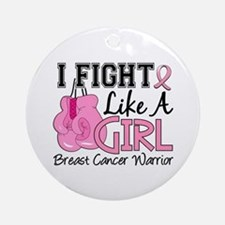 Licensed Fight Like a Girl 15.2 Ornament (Round)