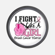 Licensed Fight Like a Girl 15.2 Wall Clock