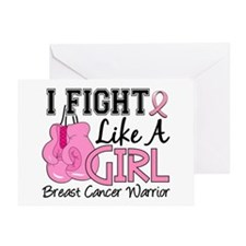 Licensed Fight Like a Girl 15.2 Greeting Card