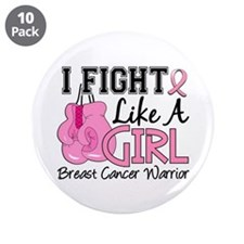 """Licensed Fight Like a Girl 1 3.5"""" Button (10 pack)"""