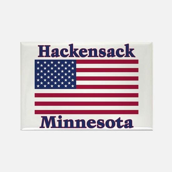 Hackensack US Flag Rectangle Magnet