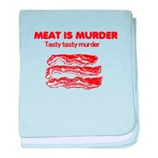 Meat is Murder 4 baby blanket
