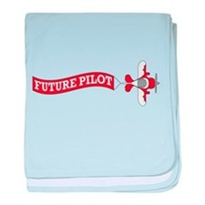 Aviation Future Pilot baby blanket