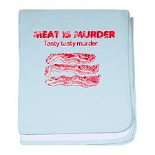 Distressed Meat is Murder 4 baby blanket