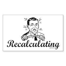 Recalculating Man Decal
