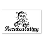 Recalculating Man Sticker (Rectangle)