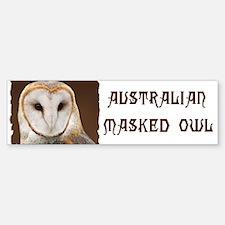 AUSTRALIAN MASKED OWL Bumper Bumper Sticker