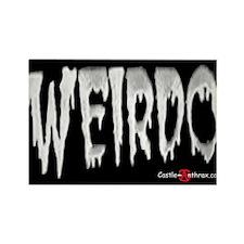 Weirdo in the Dark Rectangle Magnet