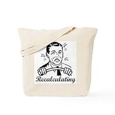 Recalculating Man Tote Bag