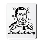 Recalculating Man Mousepad