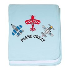 Aviation Plane Crazy baby blanket