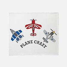 Aviation Plane Crazy Throw Blanket