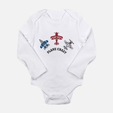 Aviation Plane Crazy Long Sleeve Infant Bodysuit