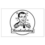 Recalculating Man Large Poster