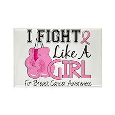 Licensed Fight Like a Girl 15.5 Rectangle Magnet