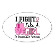 Licensed Fight Like a Girl 15.5 Decal
