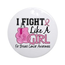 Licensed Fight Like a Girl 15.5 Ornament (Round)