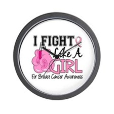 Licensed Fight Like a Girl 15.5 Wall Clock