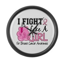 Licensed Fight Like a Girl 15.5 Large Wall Clock