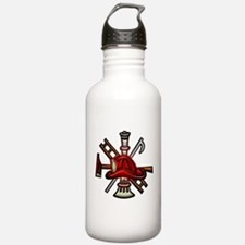 Water Bottle Firefighter Graphic