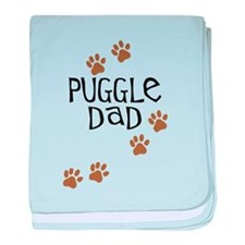 Puggle Dad baby blanket