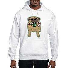 Candy Cane Pug Hoodie