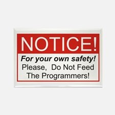Notice / Programmers Rectangle Magnet