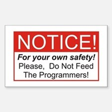 Notice / Programmers Sticker (Rectangle)