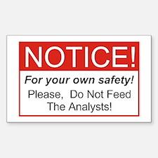 Notice / Analysts Sticker (Rectangle)