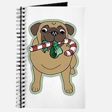 Candy Cane Pug Journal