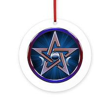 Lunar Goddess Pentagram Ornament (Round)