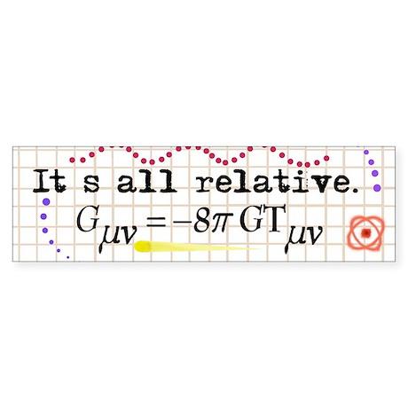 It's All Relative Sticker (Bumper)