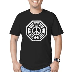 Dharma Peace Faded Men's Fitted T-Shirt (dark)