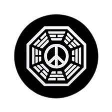 "Dharma Peace Faded 3.5"" Button"