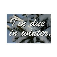 I'm due in winter. Rectangle Magnet (10 pack)