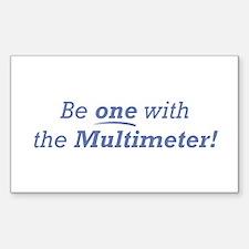 Multimeter / Be one Sticker (Rectangle)