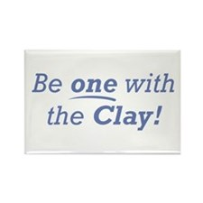 Clay / Be one Rectangle Magnet