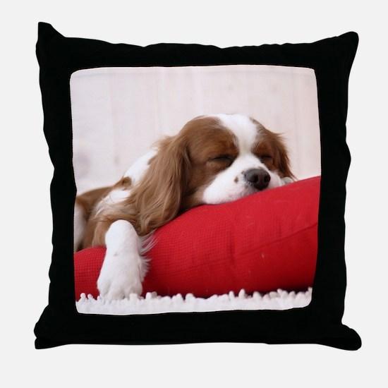 SLEEPING SPANIEL PUPPY Throw Pillow