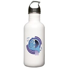 French Horn Deco2 Water Bottle