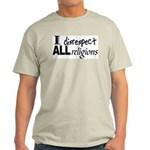 Disrespect Religions Ash Grey T-Shirt