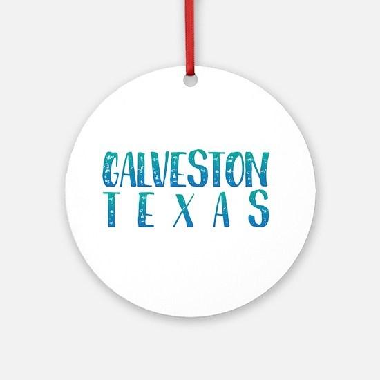Galveston Texas Round Ornament