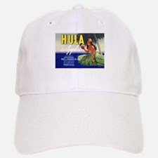 'Hula Apples' Retro Fruit Label Baseball Baseball Cap